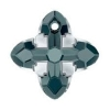 Swarovski Pendant 6868 Cross Tribe 14mm Graphite Light Chrome 6Pcs